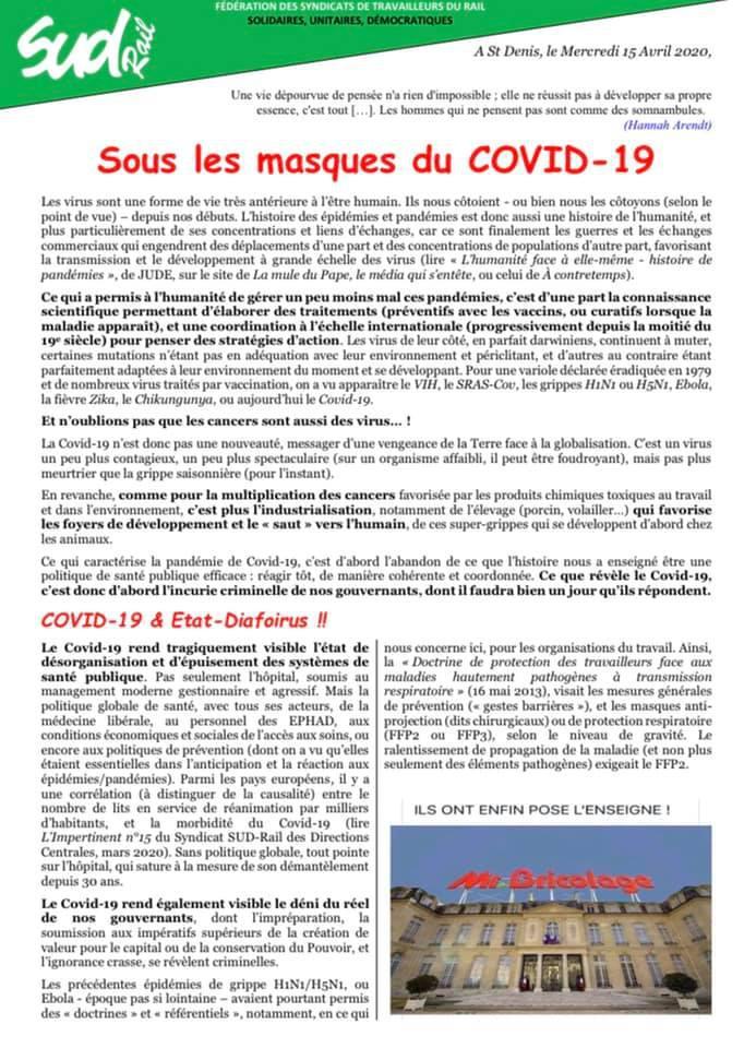 Sous les Masques du COVID-19