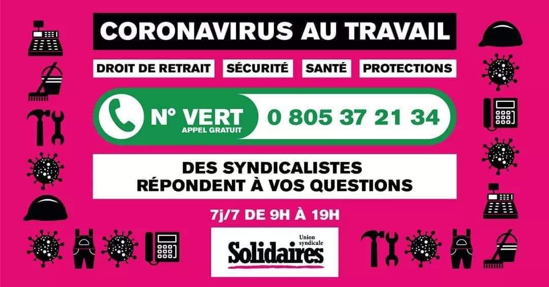 (Vidéo) Coronavirus : Quelle action syndicale à la Poste, Orange, dans les centres d'appels avec SUD PTT ?
