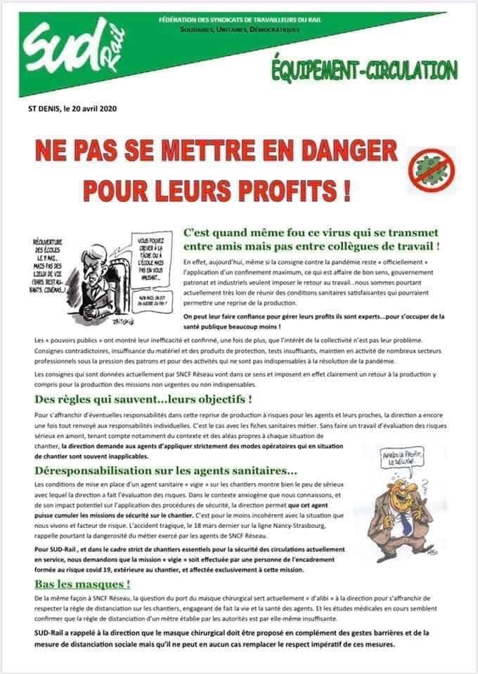 Ne pas se mettre en danger pour leurs profits !