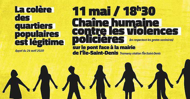 Le 11 Mai : une chaîne humaine contre les violences policières