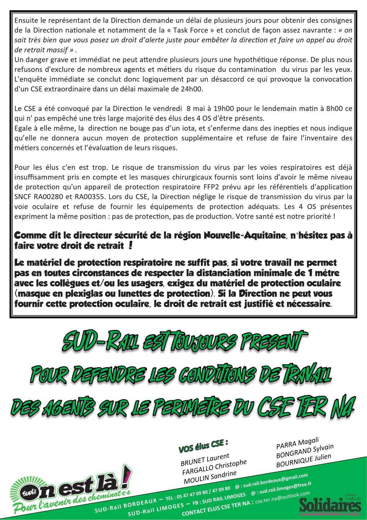 Compte Rendu CSE Extra du 9 Mai