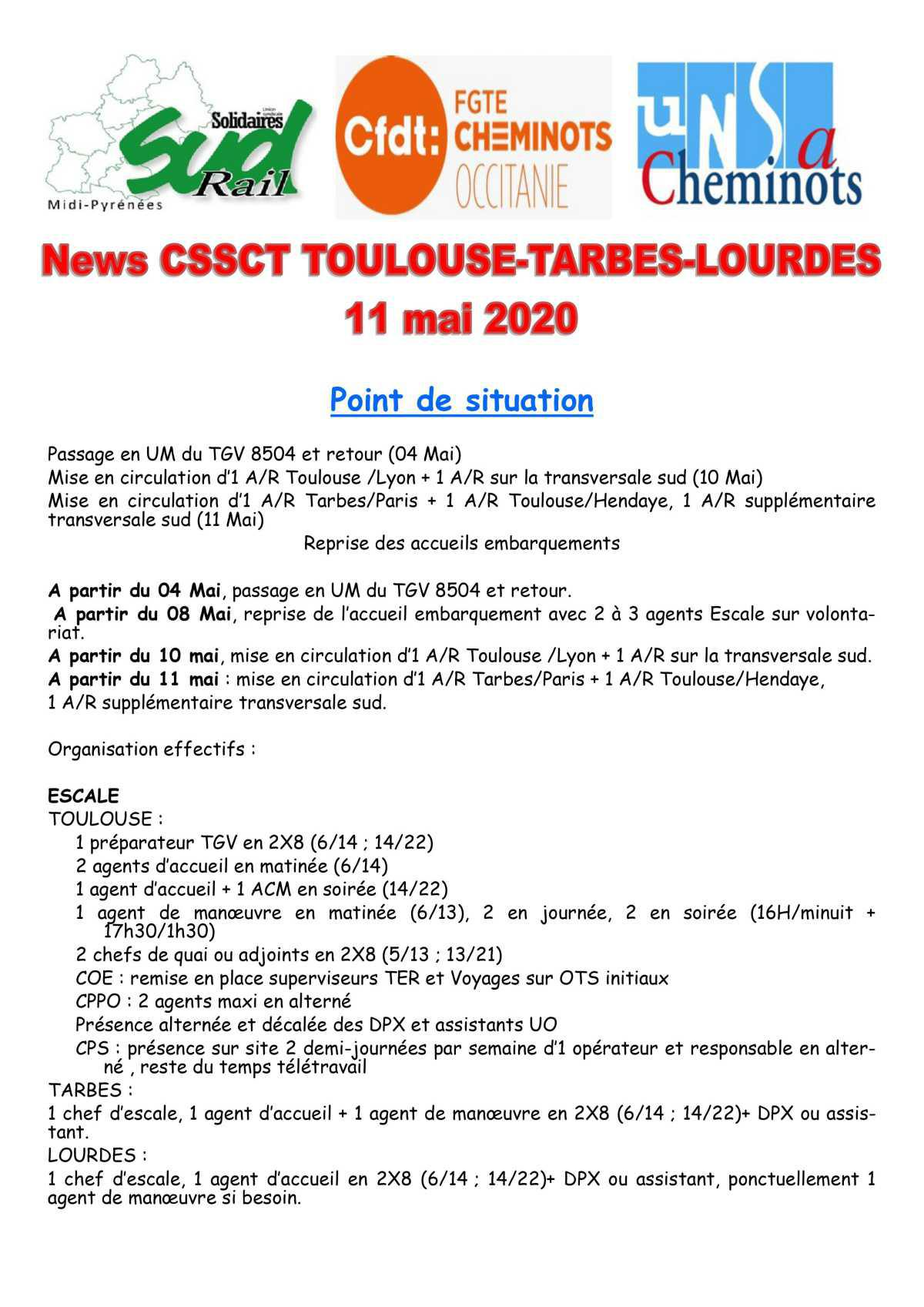 News CSSCT Toulouse-Tarbes-Lourdes