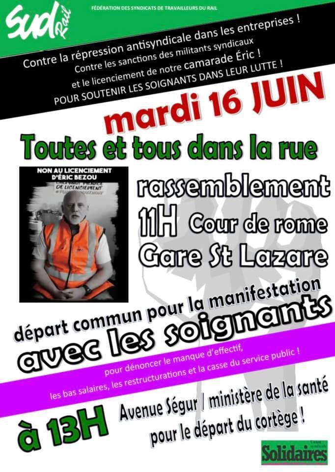 Le Mardi 16 juin, toutes et tous dans la rue avec les soignants