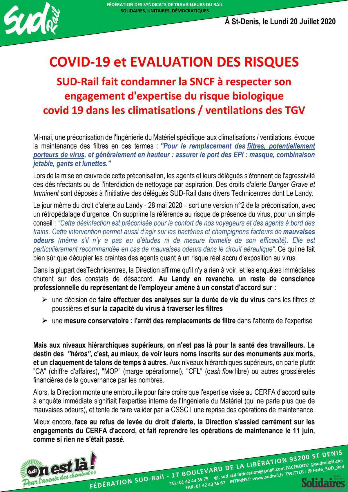 COVID-19 et évaluation des risques