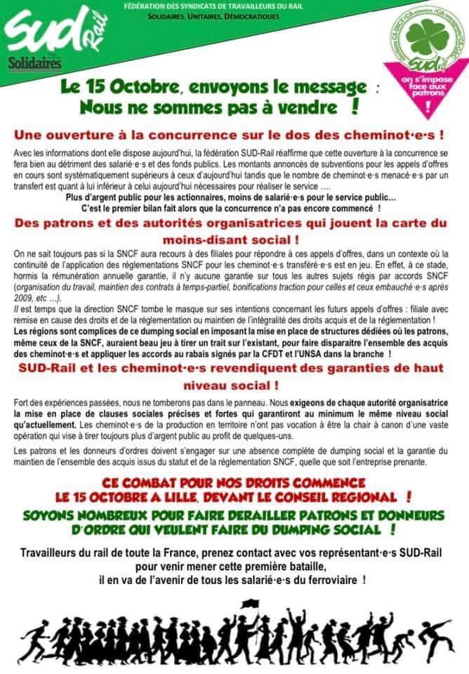Le 15 Octobre, envoyons le message : Nous ne sommes pas à vendre !