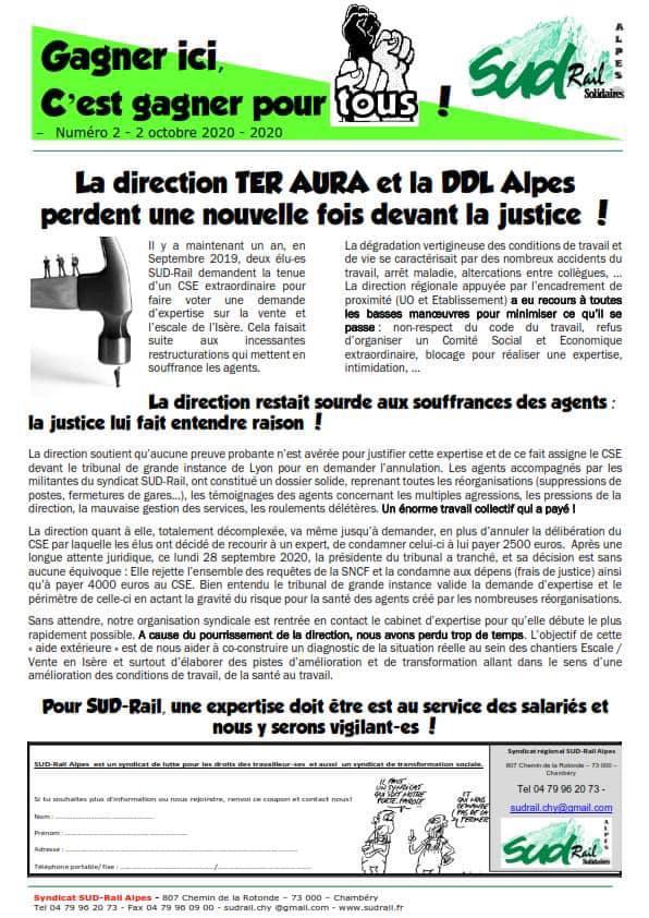 La direction TER AURA et la DDL Alpes perdent une nouvelle fois devant la justice !