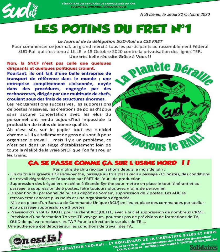 """ Les Potins du FRET N°1"""