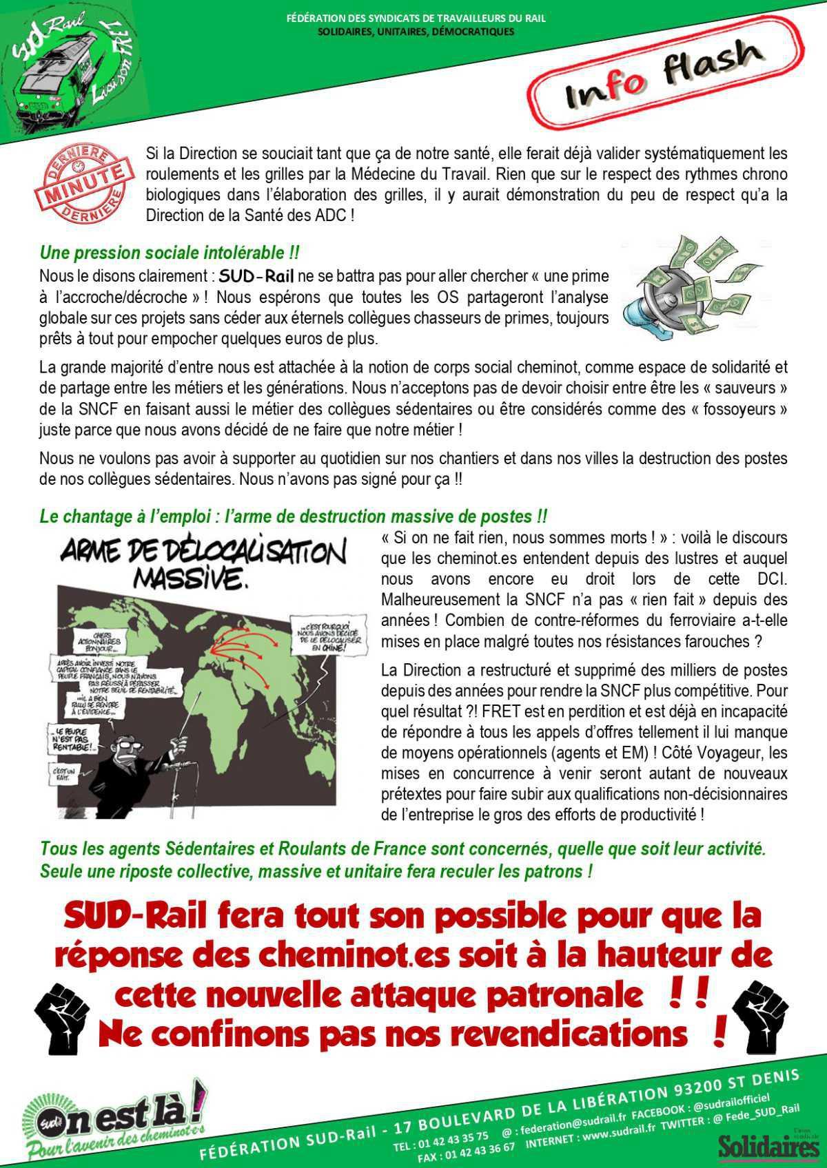 Nouveau Référentiel Traction au FRET : Danger pour tous les ADC !!