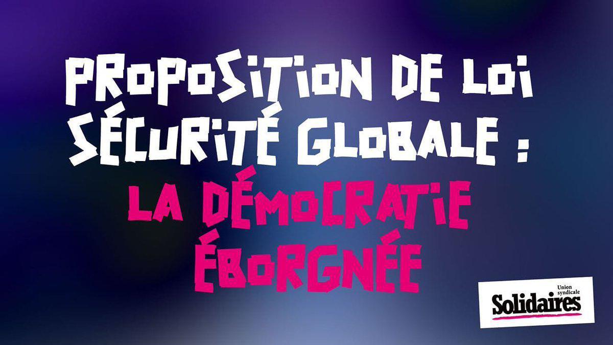 Proposition de loi sécurité globale : La démocratie éborgnée