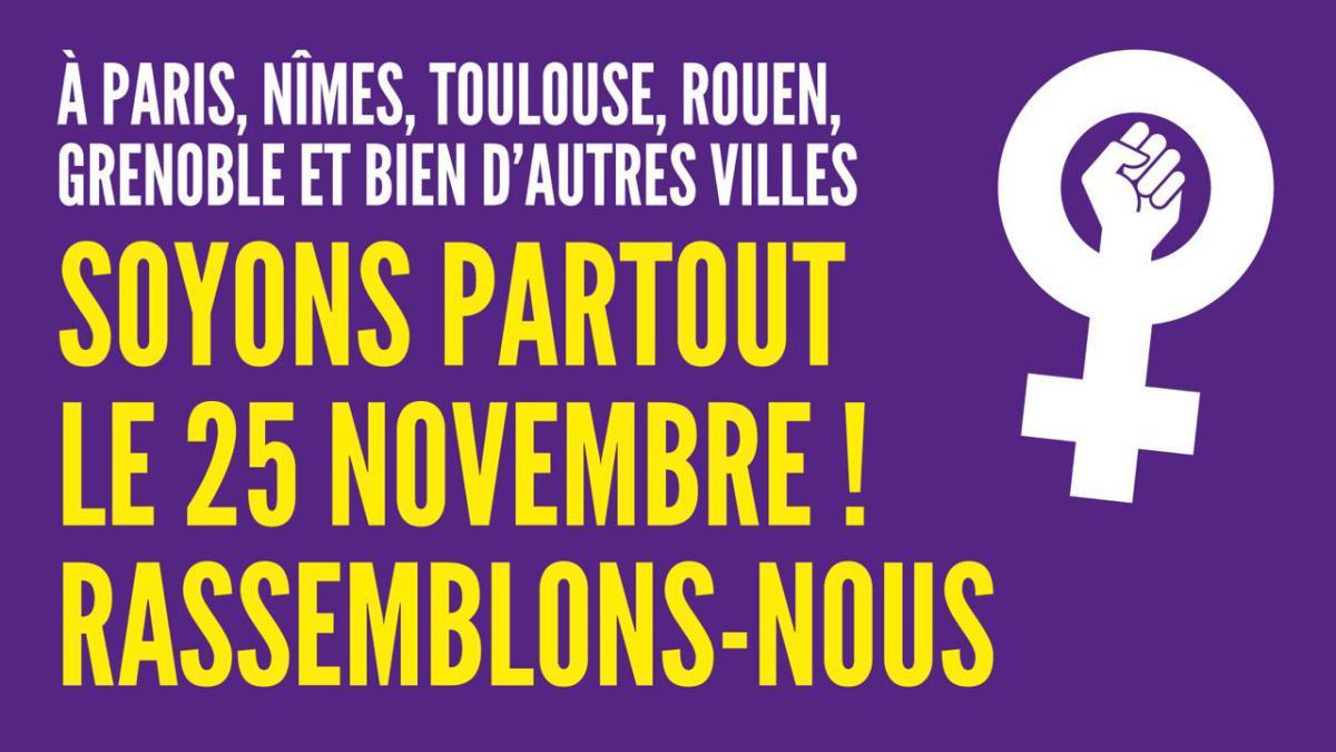 Appel unitaire pour le 25 novembre, journée internationale de lutte contre les violences sexistes et sexuelles