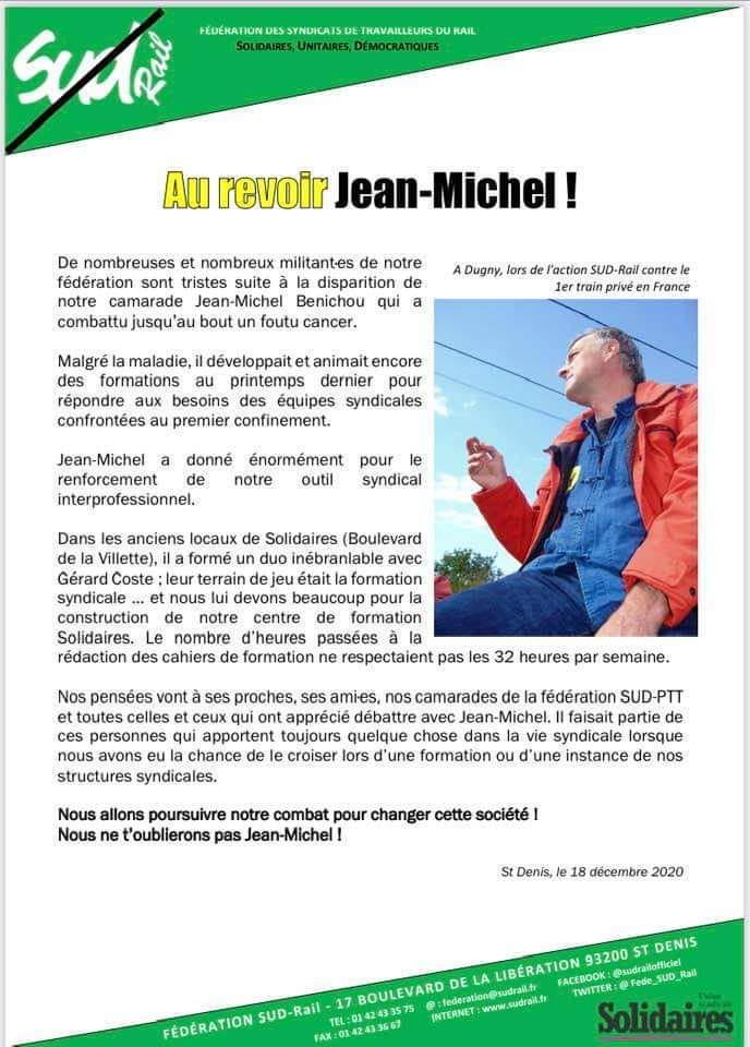 Au revoir Jean Michel !