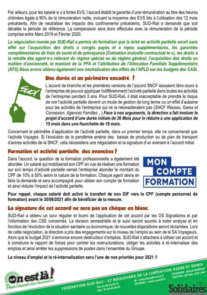 APLD : SUD-Rail obtient des droits pour les salarié(es) SNCF !