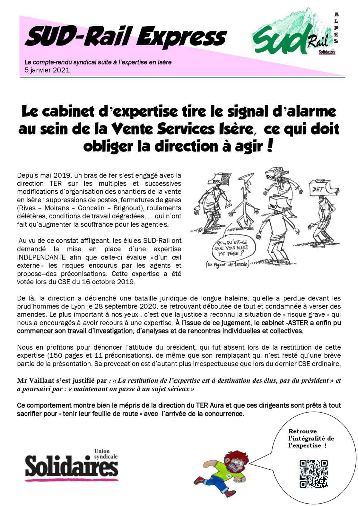 Compte Rendu d'Expertise au sein de la Vente Services Isère
