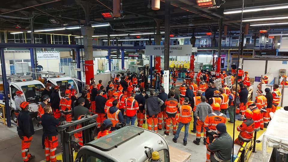 Mobilisation dans les Technicentres TGV