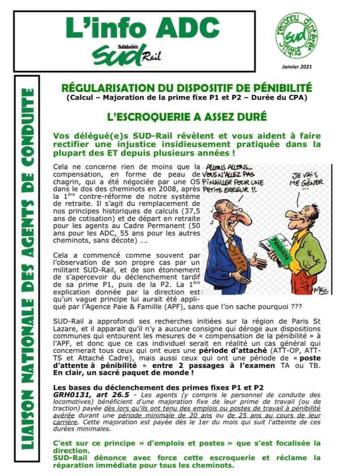 ADC : Régularisation du dispositif de pénibilité