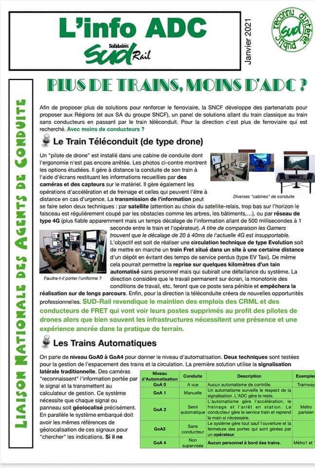 ADC : Plus de trains, moins d'ADC ?