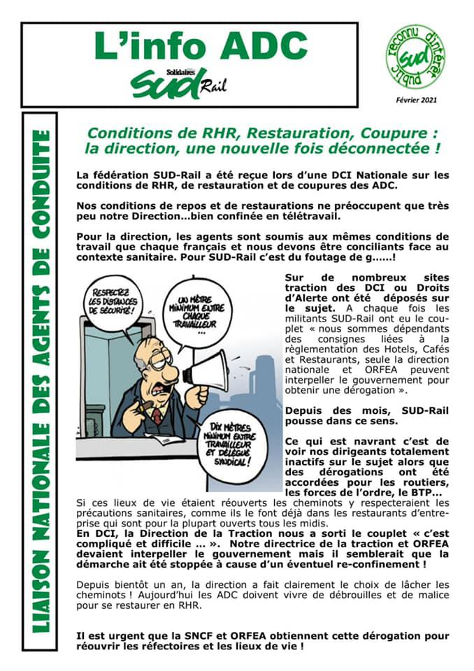 Conditions de RHR, Restauration, Coupure...La direction, une nouvelle fois déconnectée !