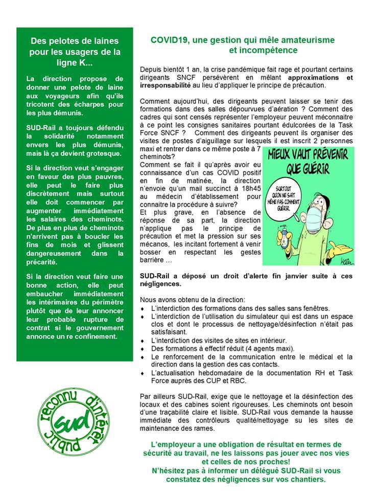 Bulletin des élus du CSE Transilien des lignes H, B & K