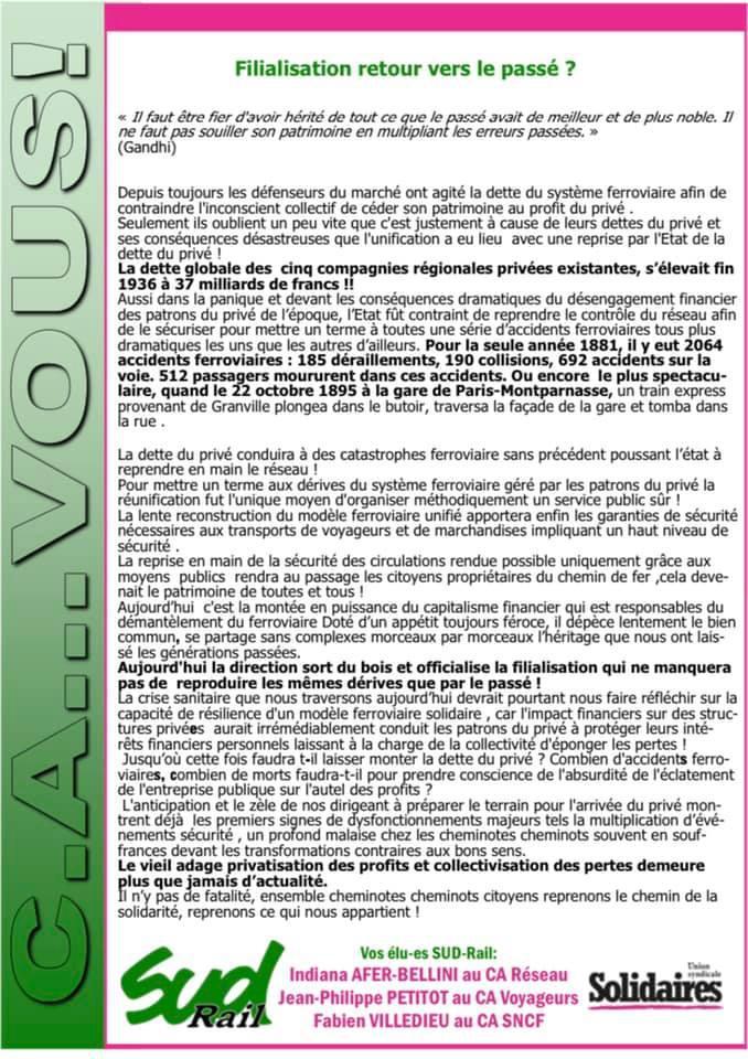 Actualité Conseil Administration Février 2021