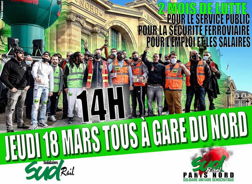 Rassemblement Jeudi 18 Mars à Gare du Nord