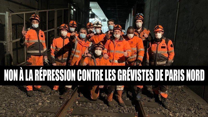 STOP à la répression contre les grévistes de l'Infrapôle Paris Nord