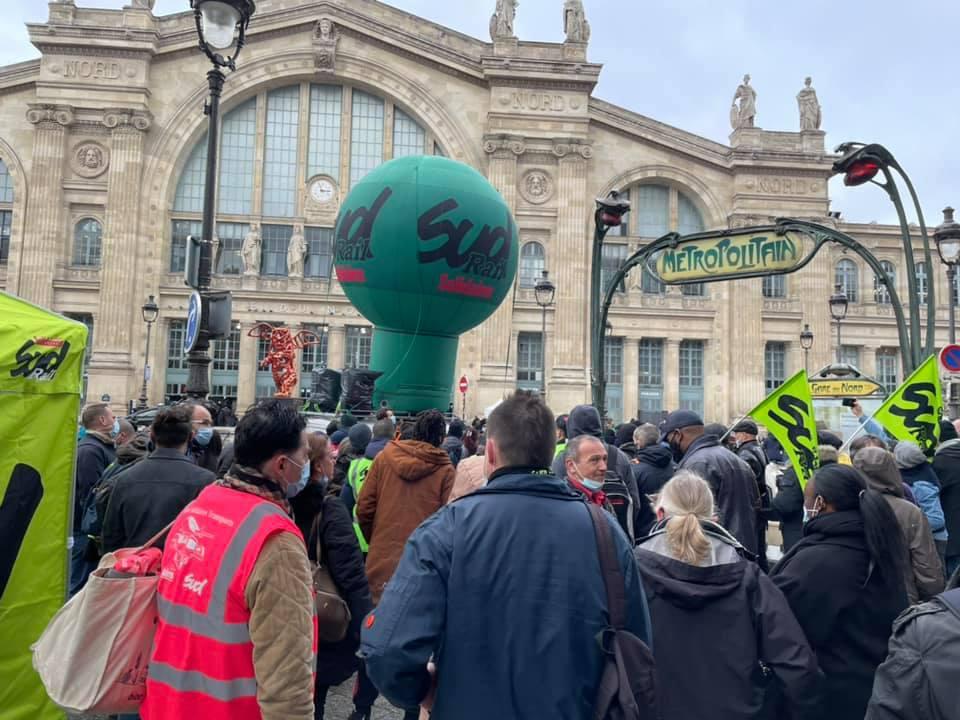 Rassemblement pour les camarades de l'Infrapôle de Paris Nord en lutte