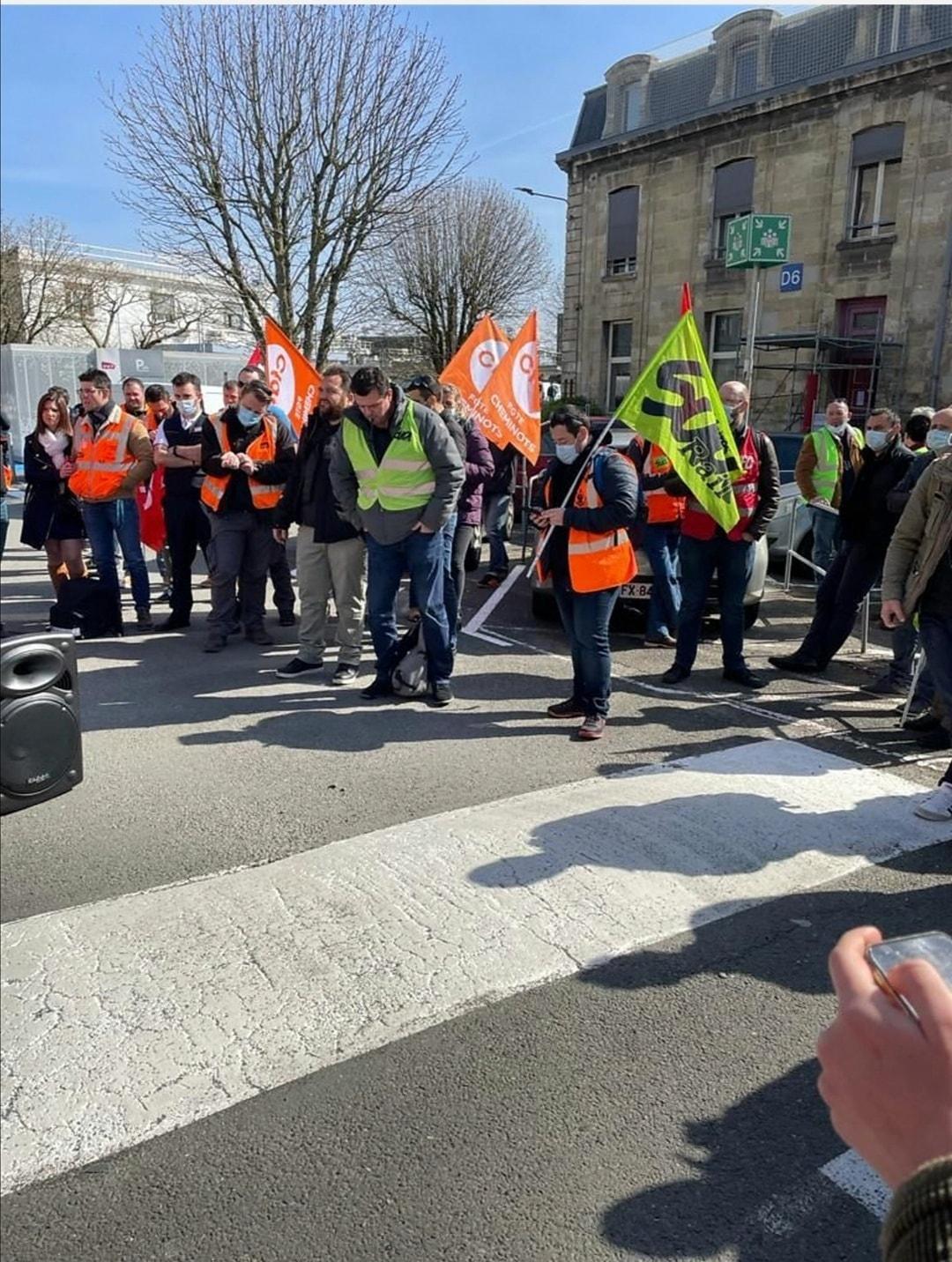 Rassemblement de soutien pour Jean Christophe, ADC menacé de radiation