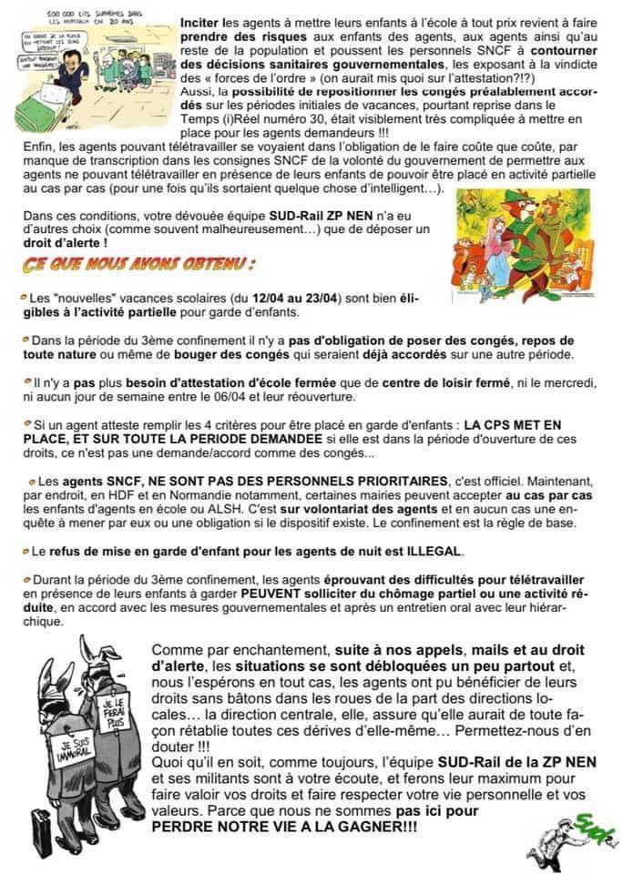 SUD-Rail et le sauvetage des enfants perdus !