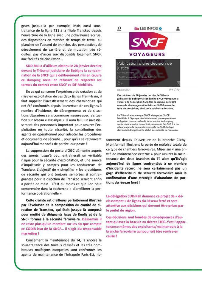 Infos du CSE Réseau Île de France