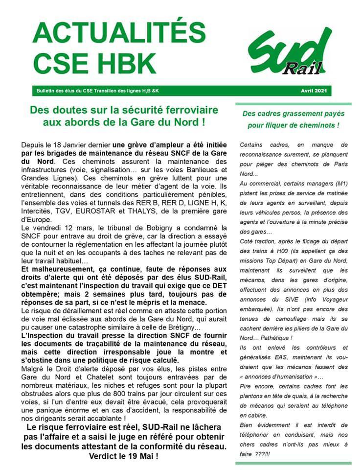 Actualités CSE H,B &K
