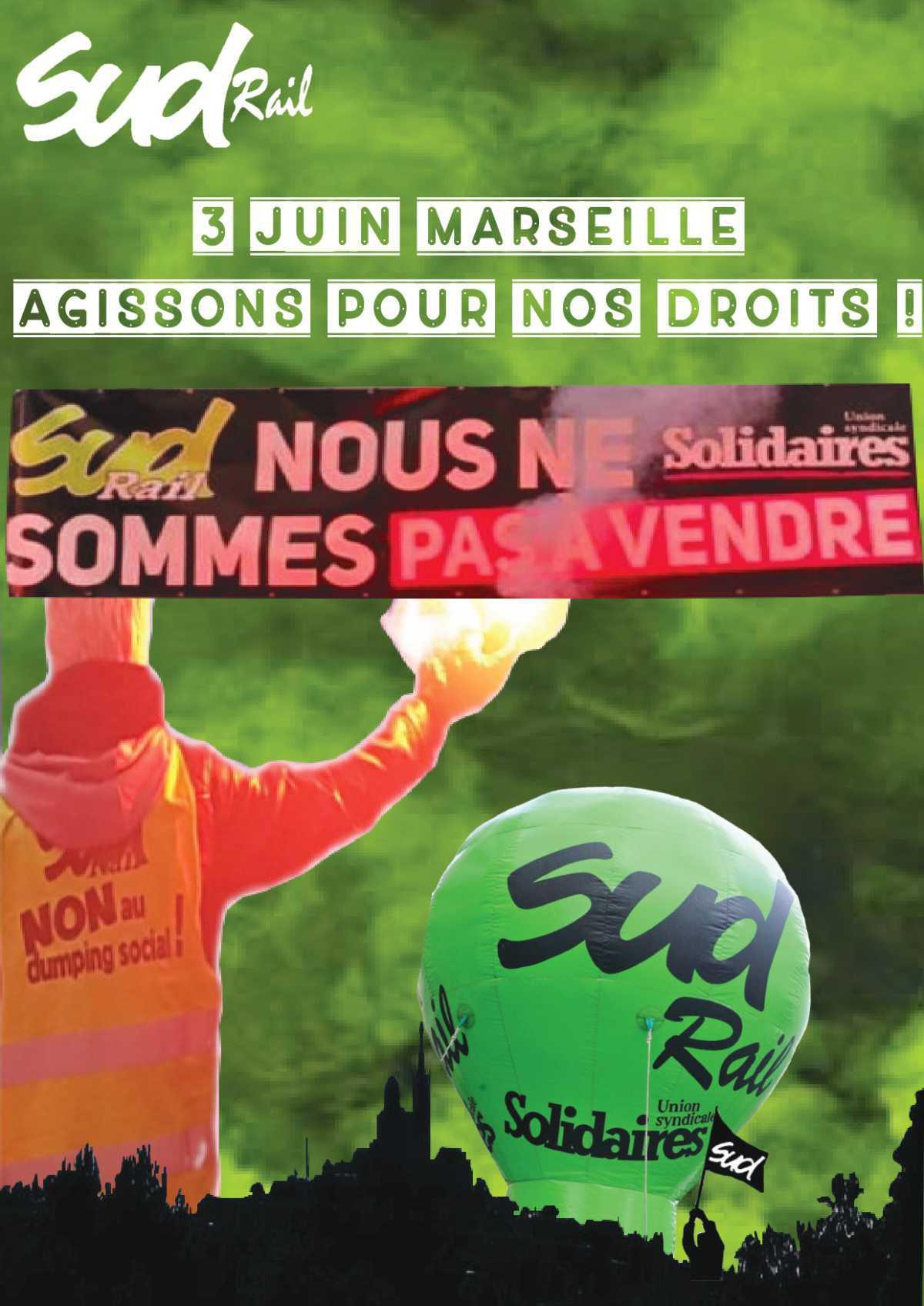 Rassemblement à Marseille, agissons pour nos droits !