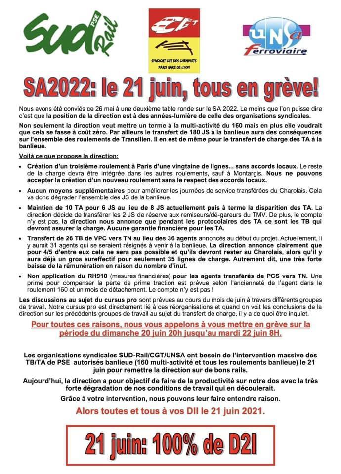 SA2022 : Le 21 juin, toutes et tous en grève !