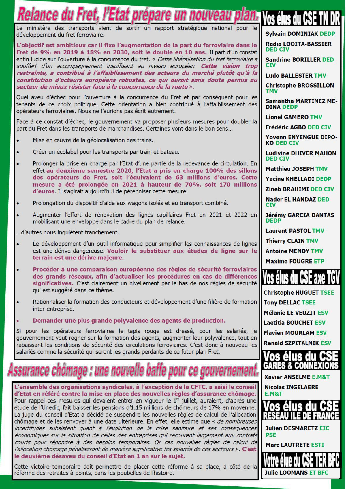 Le journal Luttes Sociales de PSE