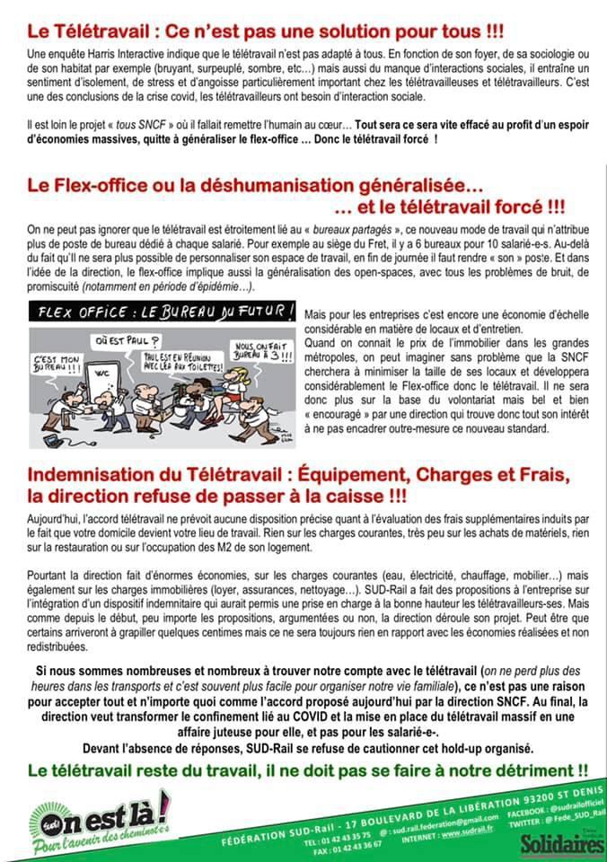 Télétravail - Une direction SNCF hors du temps et de l'après COVID-19