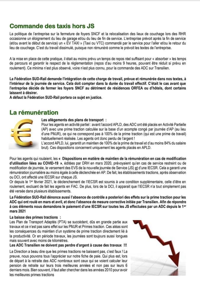 Transilien - SA 2022, VTC, rémunération, plateformes de programmation…