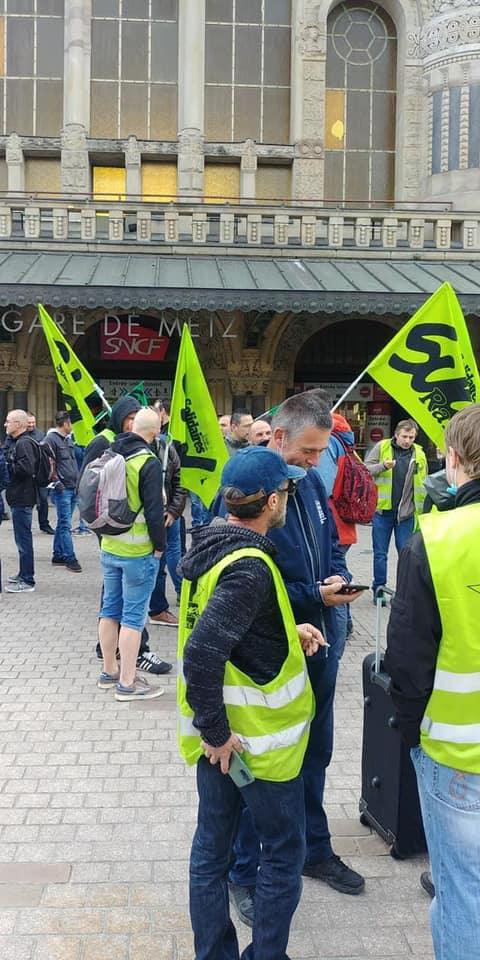 7 octobre - Rassemblement à l'appel de SUD-Rail à Metz...La planète déraille ! Imposons le rail !