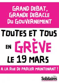 Tous en grève le 19 Mars