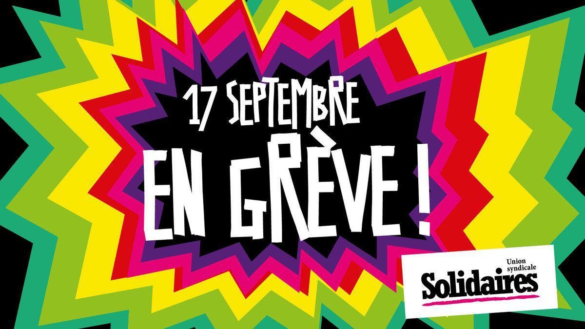 17 Septembre, en grève !