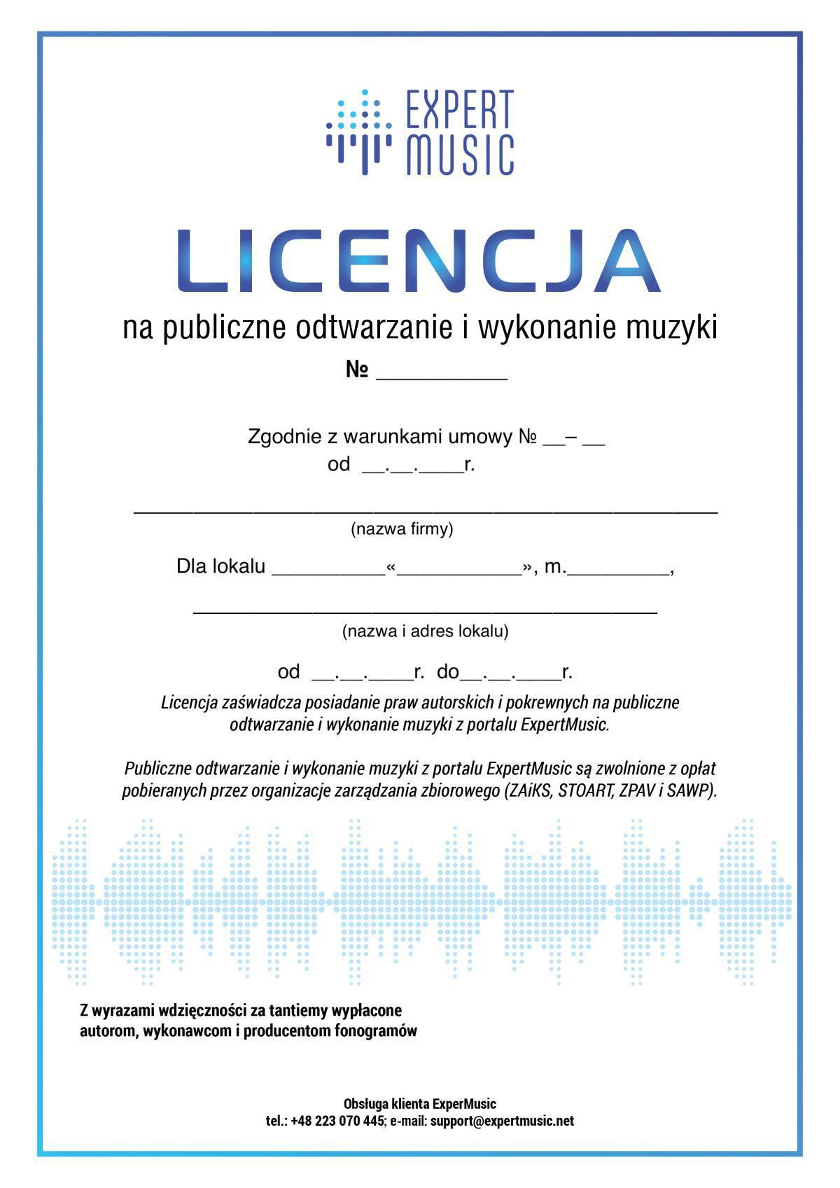 Licencja na muzykę bez ZAIKS