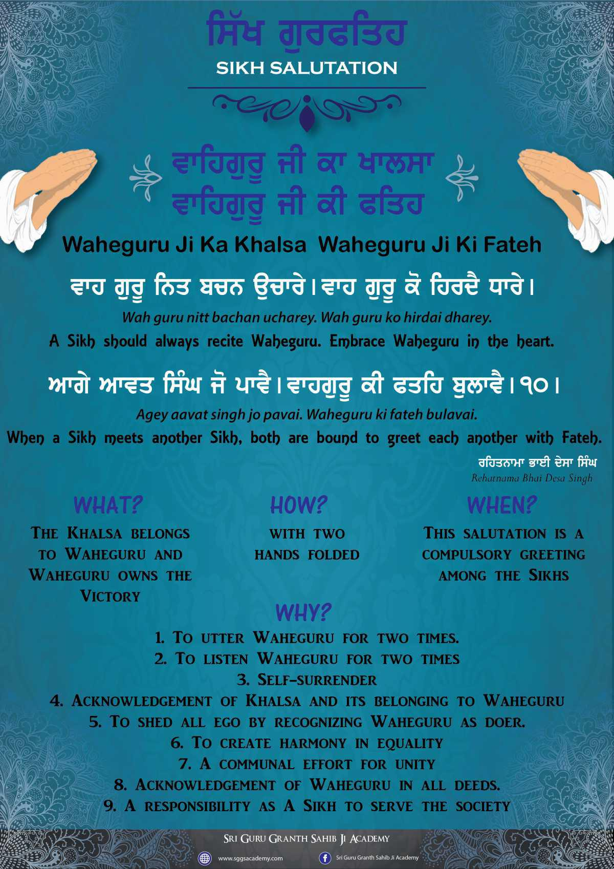 Sikh Salutation