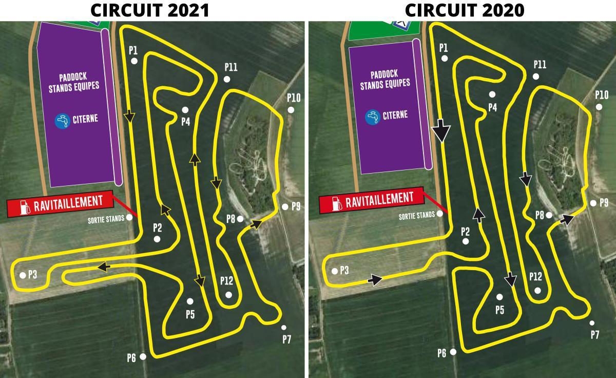 Le tracé du circuit 2021