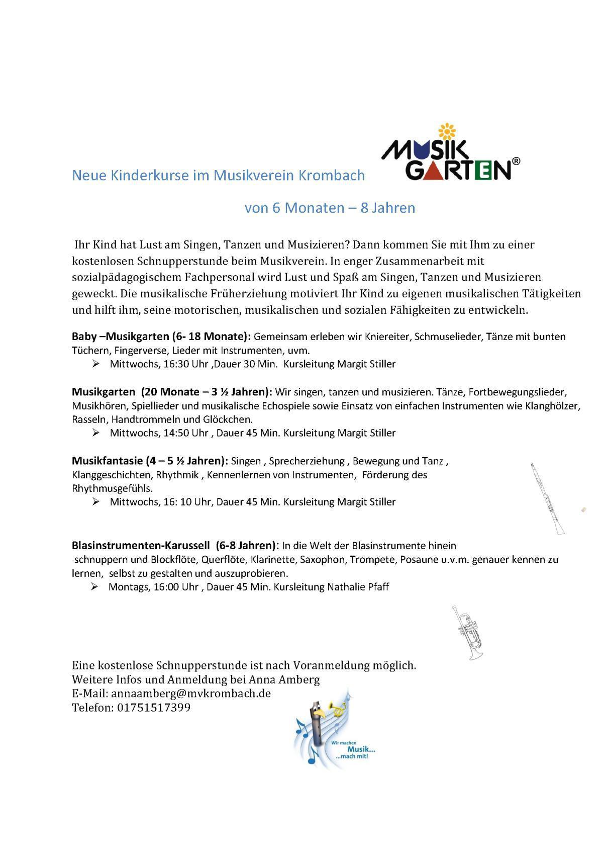 Musikverein: »Neue Kinderkurse«