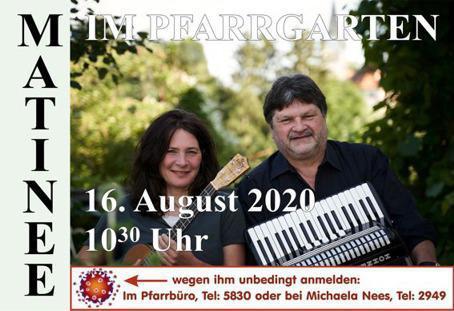 Pfarrgemeinde: Matinee mit Uta Desch und Klaus Staab