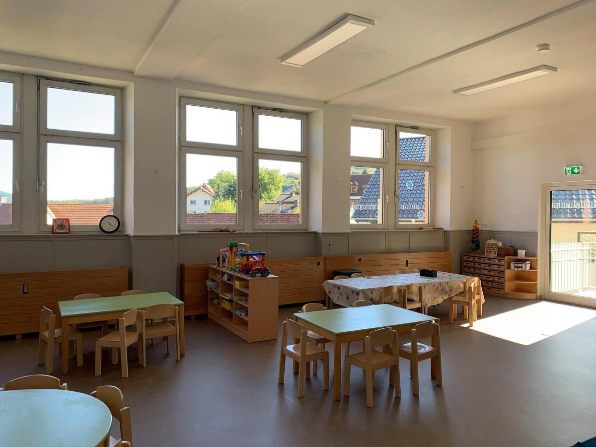 Kiga -Übergangslösung in der 'Alten Schule' ist fertig