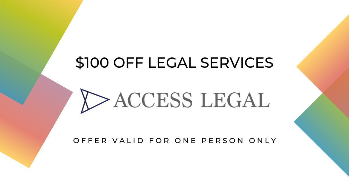 $100 Off Legal Services