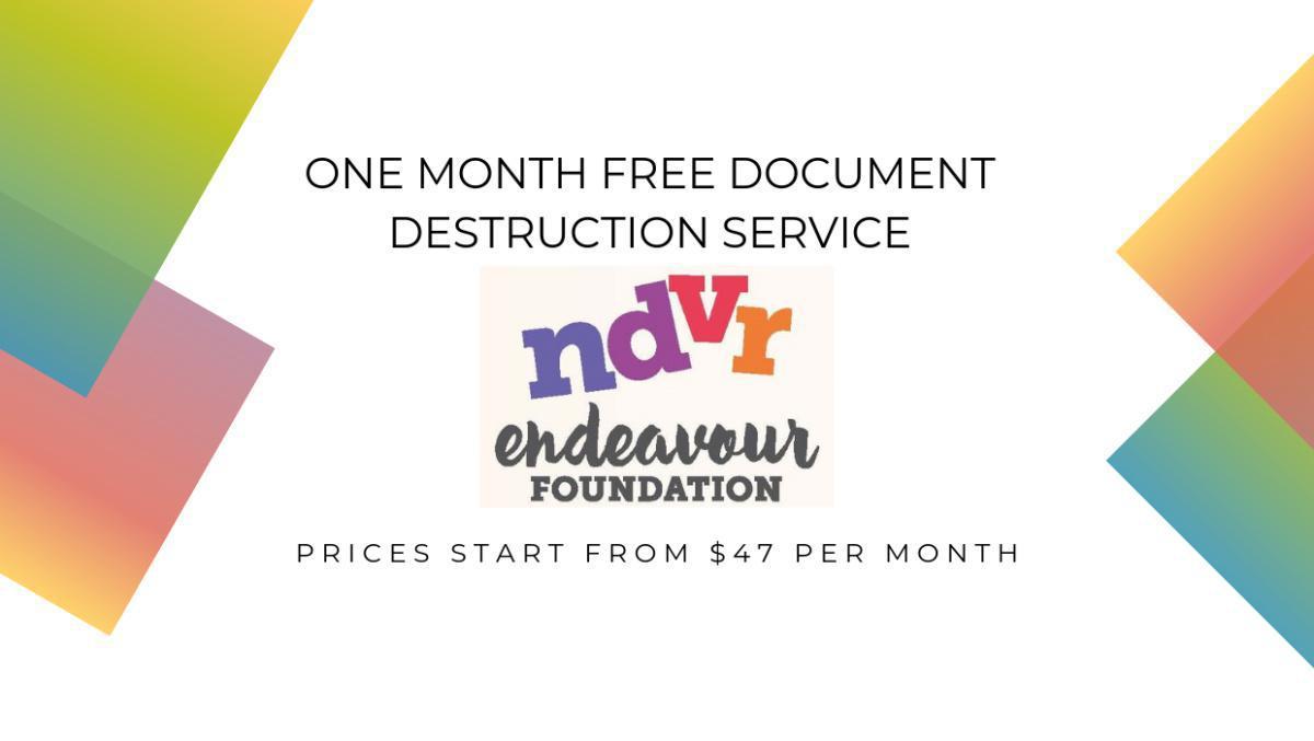 One Month Free Document Destruction Service