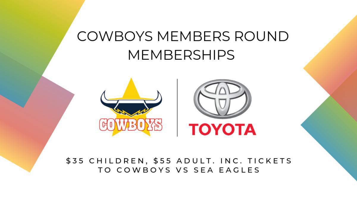 Cowboys Members Round Memberships - from $35!