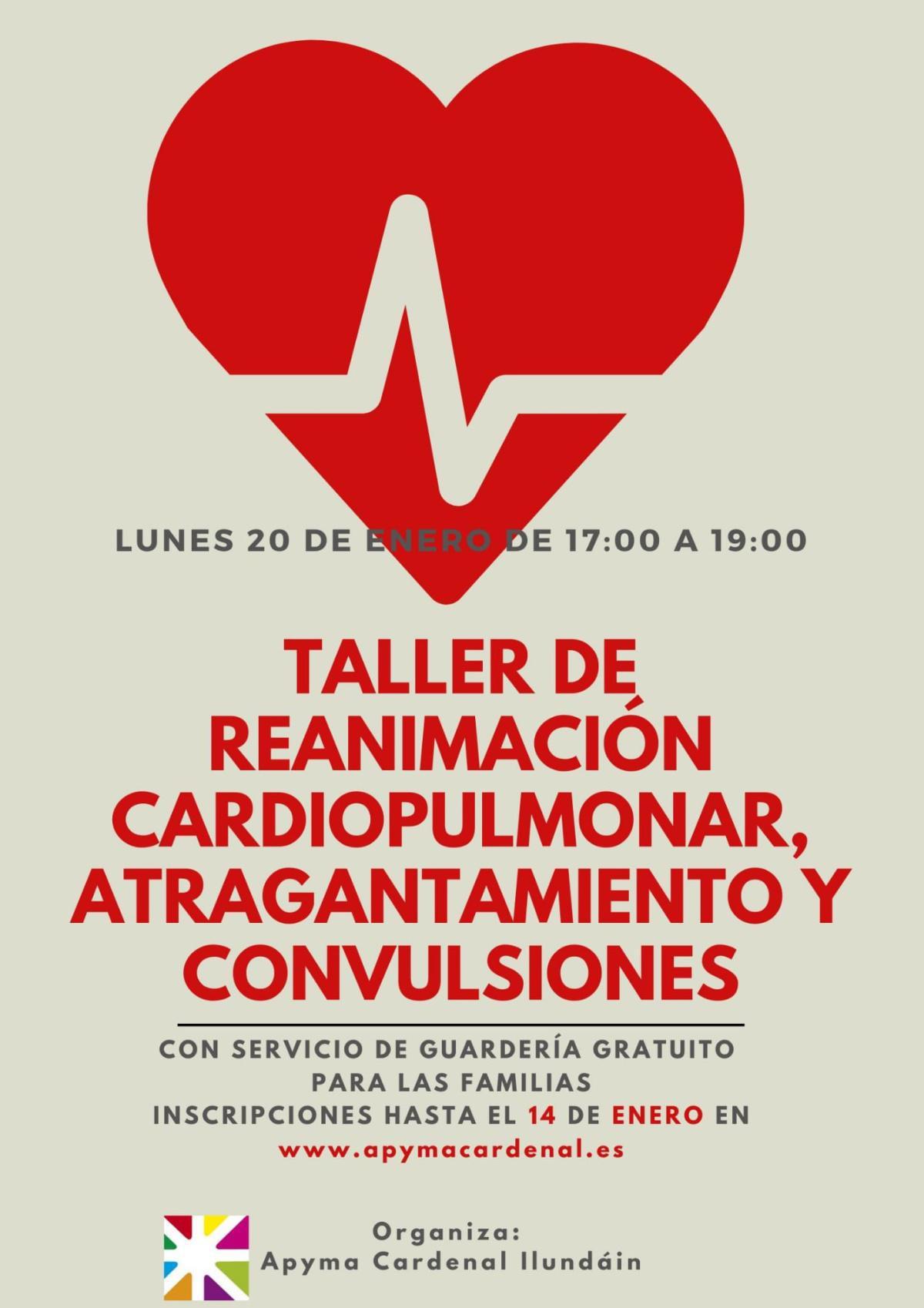 Taller de reanimación cardiovascular, atragantamiento y convulsiones