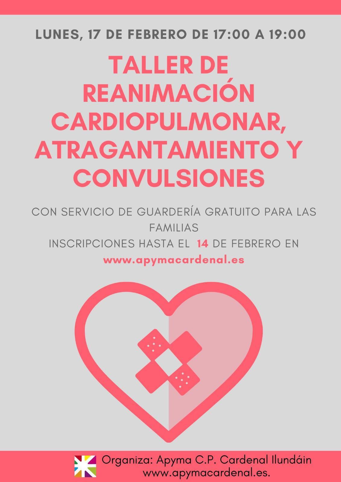 Nuevo taller de reanimación cardiopulmonar, atragantamiento y convulsiones
