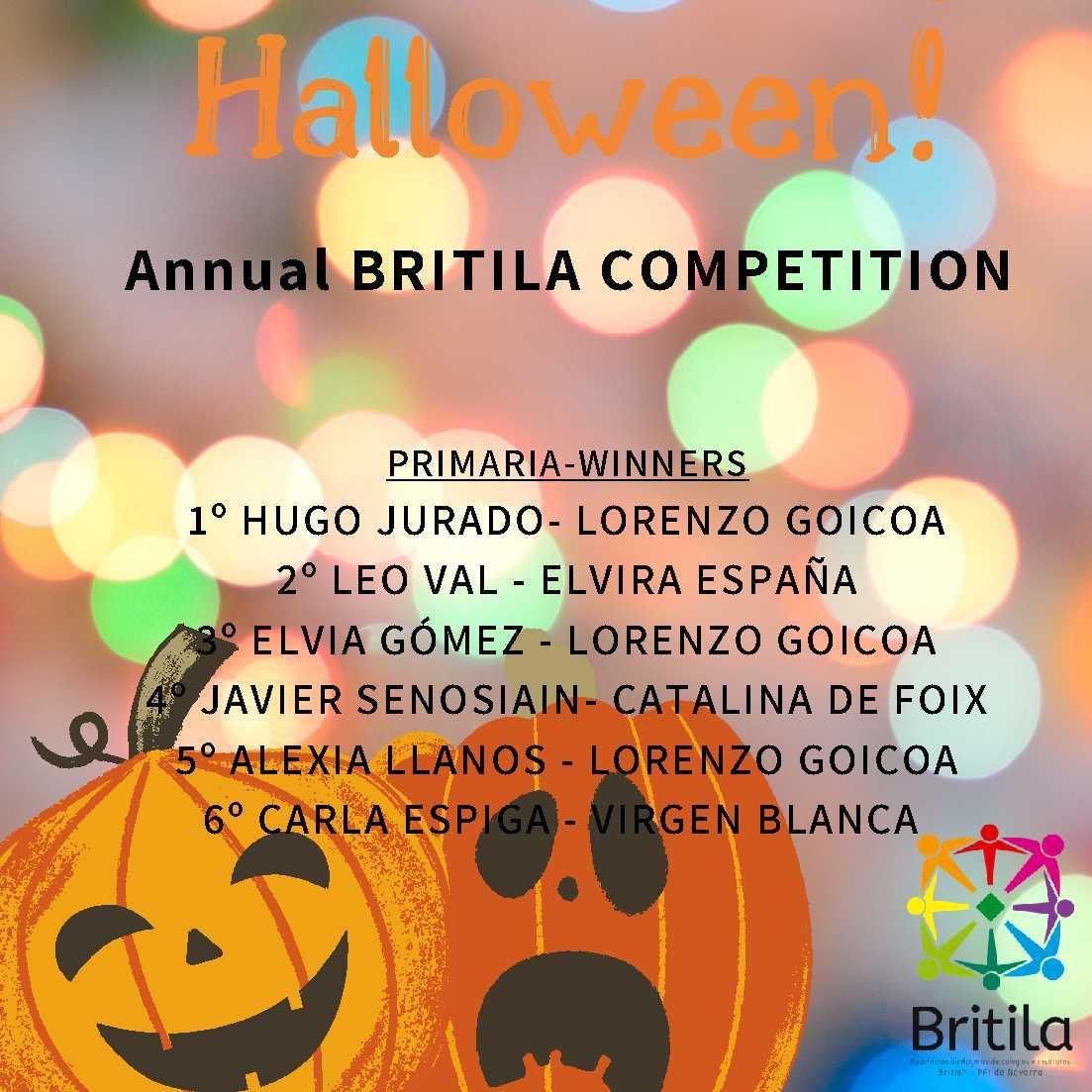 Ganadores de Navarra del Concurso Halloween